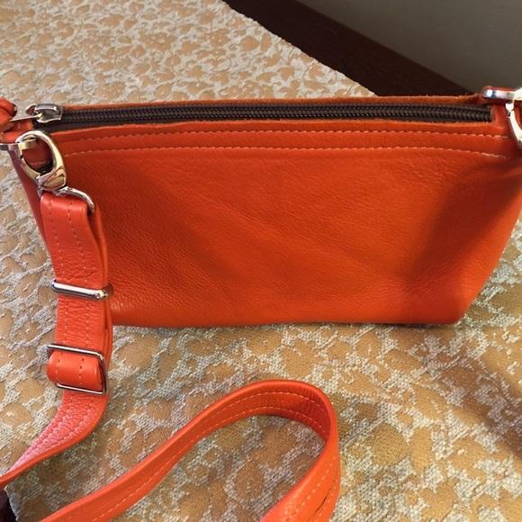 dd2d353c18586 etsy Handbags - Small Orange leather handbag